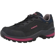 LOWA 德國 女 Renegade GTX 低筒防水登山鞋 健行鞋 戶外功能鞋 藍/桃 LW320963 綠野山房