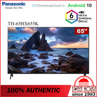 "Panasonic 65"" HX655 4K HDR Android TV TH-65HX655K – Google Assistant & Chromecast"