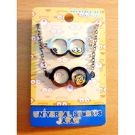 日本進口 環球影城 小小兵限定商品 小小兵 眼鏡框架 造型 雙項鍊(2入)