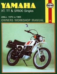 Yamaha XT Tt and Sr 500 Singles Owners Workshop Manual No. 342