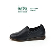 POLO CLUB รุ่น P1839 รองเท้าคัชชูหนังแท้ หุ้มส้น ส้นเตี้ย สีดำ