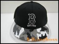 【喬治城】MLB SNAPBACK 創信 棒球帽 嘻哈帽 紅襪隊 黑色迷彩 刺繡 5562004-019