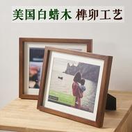 木製相框 實木相框歐式簡約6 7寸A4結婚登記照黑胡桃木質相框擺台掛牆定製【全館免運 限時鉅惠】