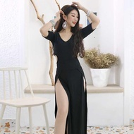 Belly Dance Practice Clothes New Suit Performance Costumes Women's Oriental Dance Dancing Dress Autumn and Winter Dress