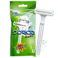 DORCO 雙刀輕便型刮鬍刀(3入裝)-2包