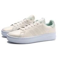 【adidas 愛迪達】ADVANTAGE BOLD 米白 薄荷綠 皮革 亮粉 休閒鞋 女(EH2056)
