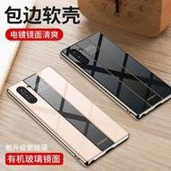 【保時捷二代設計】三星note8手機殼9鏡面note10+個性10plus全包