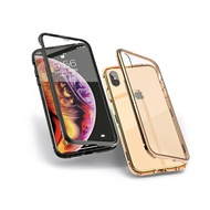 抖音爆款 iPhone 6 6S 7 8 Plus 手機殼 金屬邊框 雙面 鋼化玻璃殼 磁吸 全包 防摔 保護殼 手機套