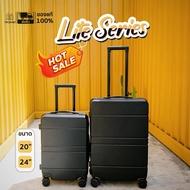 Tpartner [ใหม่] กระเป๋าเดินทาง ขนาด 20 กับ 24นิ้ว กระเป๋าเดินทางล้อลาก รุ่น Lite Series เฟรมซิป วัสดุ ABS+PC
