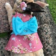 🎀限量🎐日式和服浴衣(粉櫻) 兔兔牽繩 兔兔洋裝