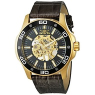 Invicta 英威塔Specialty系列 黑色真皮機械錶 【Watch On-line Store】