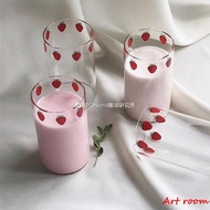 Art room漫畫版NANA草莓玻璃杯 高硼硅耐熱玻璃 可愛草莓牛奶杯 漫畫周邊