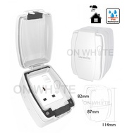 Waterproof/Weatherproof Switch Socket Outlet 13A iP66  86486 OUTDOOR /MK/EUROSAFE/OPS/SCHNEIDER/HAGER/DLX/MAXVI/ERA 9q97