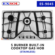 gas stove built in gas stove 5 Burner Built-In Gas Hob Stove CookTop Stainless Steel Battery Ignition EXSOL ES-9045