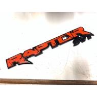 RAPTOR Ford Ranger แผ่นป้าย 3มิติ 3D สติ๊กเกอร์ แรปเตอร์ SVT STICKER โลโก้ สีดำแดง ฟอร์ดเรนเจอร์ PX PK emblem logo