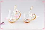 (碗美人生)高檔百合水杯對組創意結婚禮物預購七天