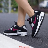 NIKE  AIR MAX 90 慢跑鞋 黑桃 黑粉 325213-040 氣墊  女鞋