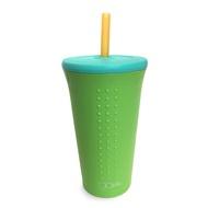 美國Gosili silikids【TOGO矽膠吸管隨行杯16oz】青檸綠 鉑金級矽膠咖啡杯 環保杯【台灣總代理】
