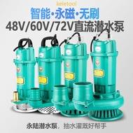 電瓶車電動車抽水機抽水機沉水馬達沉水泵直流潛水泵12V 24 無刷智能直流潛水泵48V60V72V通用大流量電動