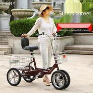 Three-wheeled bicycles, tricycle,middle-aged and elderly people with pedals, light weight, small scooter, mini adult, single model #tricycle#tricycles bicycles#tricycle adult #road bike