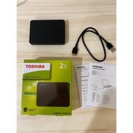 "二手 保固 Toshiba Canvio 2TB Basics A3 2T 黑靚潮III 2.5"" 外接硬碟"