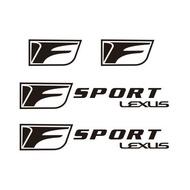 雷克薩斯淩誌系列F標剎車卡鉗貼紙 LEXUS-F標 耐高溫剎車卡鉗貼紙 淩誌LEXUS-F標 剎車卡鉗貼紙