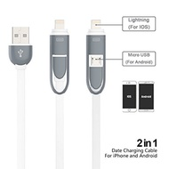 iShope iShope 2 in 1 Lightning USB Cable Charging Cord for iPhone 6S 6 Plus 5 5s 5c, ipad, and for A