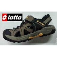 北台灣大聯盟 義大利第一品牌-LOTTO 男款5大機能多功能戶外排水護趾運動涼鞋 3103-咖啡 超低直購價498元