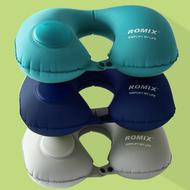 【ROMIX U形充氣枕】U型枕 護頸枕 充氣旅行枕 充氣枕【AB056】