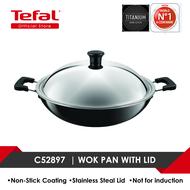 Tefal Non-stick Wok w/Lid 40cm C52897
