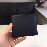 COACH短夾 F74991 男款小牛皮短夾 素色真皮皮夾 零錢夾 男士錢包 男生證件夾包包