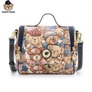 Danny Bearน่ารักแฟชั่นกระเป๋าถือหมีหญิงกระเป๋าไหล่กระเป๋าCrossbodyกระเป๋าDTB9915543