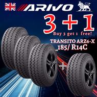 ARIVO 185/R14C (3+1 PROMO BUNDLE)     4 PCS TIRES FOR THE PRICE OF 3 TIRES