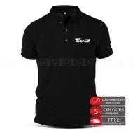 Tech3 Yamaha Embroidery Polo T Shirt KTM MotoGP Motorcycle Motosikal Superbike Racing Team Bike Casual 125Z LC RXZ TZM