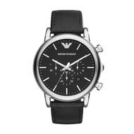 ARMANI 手錶 AR1828  時尚三眼計時設計 真皮錶帶 錶現精品 原廠正品