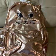 Gap全新可愛貓咪大後背包,側面可裝水瓶,原價1299元