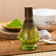 透明抽象茶筅座-抹茶綠 (玻璃茶筅座)-茶具配件/茶筅立/茶筅座/ 茶筅托/茶刷架/ 茶筅架