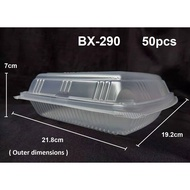jF7B BX-290 ±50's Plastic Disposable Lunch Box / Food Container