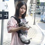 寵物背帶 貓咪外出背帶胸前背寵物背包帶貓出門貓貓背袋前抱式狗便攜包神器 薇薇家飾