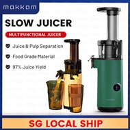⚡SAME DAY DELIVERY⚡ MOKKOM Slow Juicer Fruit Celery Juice Extractor Blender 97% Yield Easy to Clean