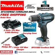 MAKITA 12V max Cordless Drill Battery Driver Drill DF333D DF333DWAE 🔥 1 Year Warranty  🔥 🔥 100% Original Makita 🔥