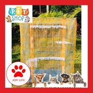 สั่งซื้อเลย! Joylife กรงแมวทําเอง กรงแมวขนาดใหญ่ สำหรับ แมวไทย มุ้งครอบกรงแมวคอนโดเบอร์3 กรงแมว ขนาดใหญ่ diy นอกบ้าน พร้อมส่ง