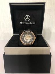 售 全新 賓士 Benz 玫瑰金前後簍空機械錶