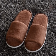 ↂ○Non-disposable Home Guest Slipper Warm Fluffy Shoes Hotel Coral Velvet Slippers