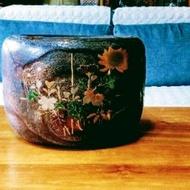 日本早期梧桐木手作火缽