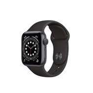 Apple Watch S6 GPS 44mm/太空灰色鋁金屬錶殼/黑色運動型錶帶*M00H3TA/A