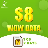 [STARHUB] $8 WOW Data Package Top-up/Prepaid/Telco topup/Mobile/eload 电话充值/手机充值