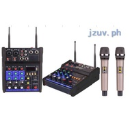 G4  4 Channels USB Bluetooth Studio Audio  Power Mixer With Nice Quality Wirless Microphone