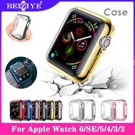เคส บัมเปอร์ กันรอย สำหรับ Apple Watch series SE 6 5 4 40 มม 44 มม TPU Clear Ultra-Thin Cover Protective Case หน้าจอเคสป่นทนกรอบเปลือกสำหรับ for apple watch SE 6 5 4 3 2 1 38มม 42มม ครอบ
