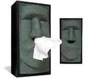 創意居家面紙盒Moai Tissue box復活節石人像面紙盒 流鼻涕衛生紙 衛生紙盒 摩艾紙巾抽 交換禮物